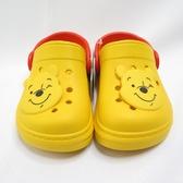 DISNEY 迪士尼正版 小熊維尼 中童 防水拖涼鞋 兩穿式 520180YEL 綠【iSport愛運動】