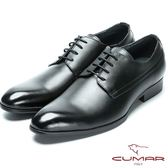 CUMAR 嚴選真皮 輕量紳士皮鞋-黑色