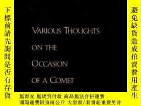 二手書博民逛書店Various罕見Thoughts On The Occasion Of A CometY364682 Pie