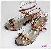 節奏皮件~國標舞鞋拉丁鞋款舞鞋編號B609 古銅