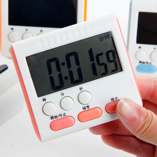大螢幕電子定時器 數碼 提醒 廚房 料理 烘焙 時鐘 鬧鐘 磁鐵 夾式 冰箱【P036】米菈生活館