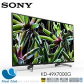 Sony 49? 4K HDR Smart TV/馬來西亞製 KD-49X7000G (限宅配)