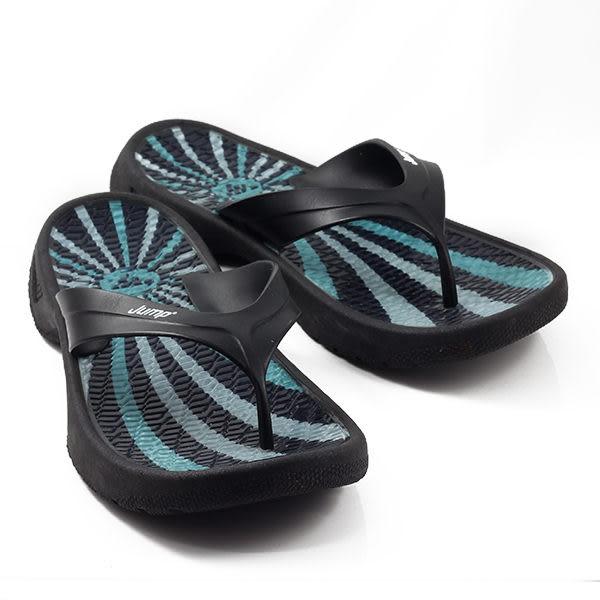 JUMP MIT 波紋夾腳拖鞋 藍 男款