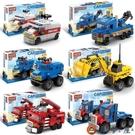 樂高積木拼裝組裝男孩汽車兒童玩具迷你小盒可愛卡車工程車救護車【淘夢屋】