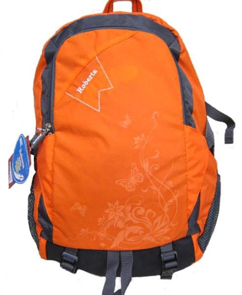 ~雪黛屋~Roberta 後背包中容量超輕防水尼龍布可放A4資夾電腦保護休閒旅行後背包上學上班郊遊NR709
