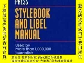 二手書博民逛書店Stylebook罕見And Libel Manual-樣式書和誹謗手冊Y436638 The Associa