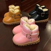 兒童靴子 兒童雪地靴女童靴子冬季寶寶鞋男童冬鞋棉鞋加絨短靴0-1-3歲2春【快速出貨八折搶購】