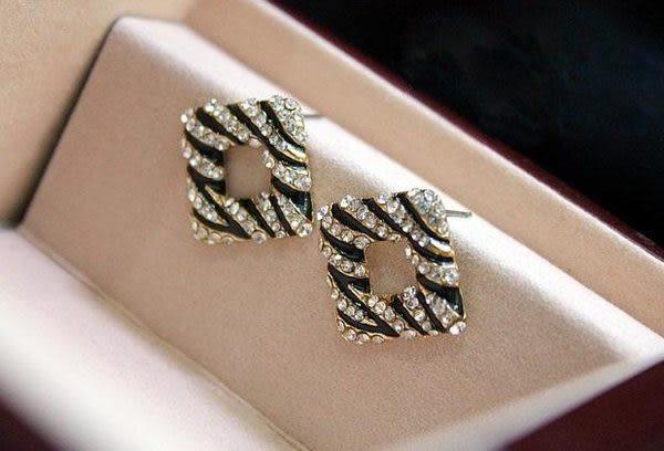 斑馬紋耳環