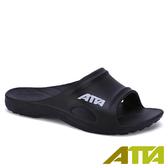 【333家居鞋館】好評回購 ATTA 足底均壓 足弓簡約休閒拖鞋-黑色