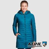 【KUHL】女 Spyfire 抗風連帽鵝絨大衣『石墨藍』K2140 冬季 禦寒 防風 防水 保暖 修身 長版 羽絨外套