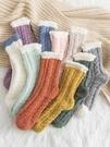 襪子 可愛日系襪子女秋冬季中長筒襪毛毛加絨珊瑚絨加厚睡眠地板襪保暖 曼慕衣櫃