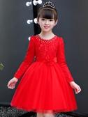 女童連衣裙秋冬2020新款兒童洋氣加絨裙子秋裝小女孩公主裙蓬蓬紗【免運】