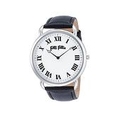 【Folli Follie】Perfect Match羅馬時尚真皮腕錶-低調黑/WF16T014SPS_BK/台灣總代理公司貨享兩年保固