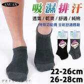 吸濕排汗 透氣 船襪 台灣製 ANUAN