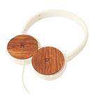 hoomia U3Wood 紅花梨原木經典耳罩式耳機 (白色)