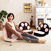 榻榻米卡通可愛貓爪沙發懶人沙發單人兒童日式卡通床上哺乳喂奶椅WY【新年交換禮物降價】