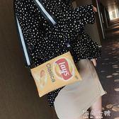 搞怪小包包搞怪小包包女包新款樂事薯片個性潮創意慵懶風可愛帆布側背包 海角七號