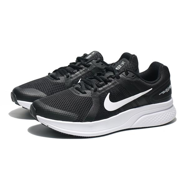 NIKE 慢跑鞋 RUN SWIFT 2 黑白 基本款 網布 運動 男 (布魯克林) CU3517-004