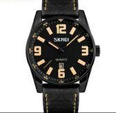時刻美男士大錶盤石英手錶防水簡約商務男錶時尚個性皮帶指針腕錶-享家生活館