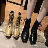 馬丁靴女秋季新款網紅百搭靴子韓版粗跟機車英倫風小短靴女潮新品 全館免運