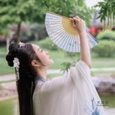 摺扇 古風扇子摺扇中國風女式古典女士絹布舞蹈扇客製化