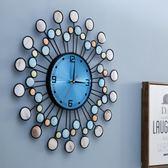 真貝殼現代簡約鐘表掛鐘時鐘客廳創意時尚個性家用藝術掛表石英鐘