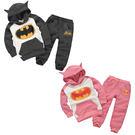長袖套裝 蝙蝠俠刷毛連帽家居服套裝 嬰幼...