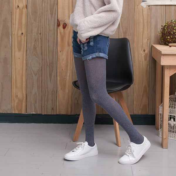 80D微壓顯瘦啞光天鵝絨褲襪(灰藏青)