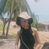 夏季冷淡風大檐盆帽百搭日系遮陽防曬太陽帽
