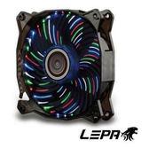 新竹【超人3C】AIBO LEPA 彩花豹Vortex 4色LED燈12公分發光風扇 LPVC88C4C12P