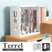 【Hampton 漢汀堡】特雷爾玻璃展示櫃-2色可選 DIY自組商品黑色