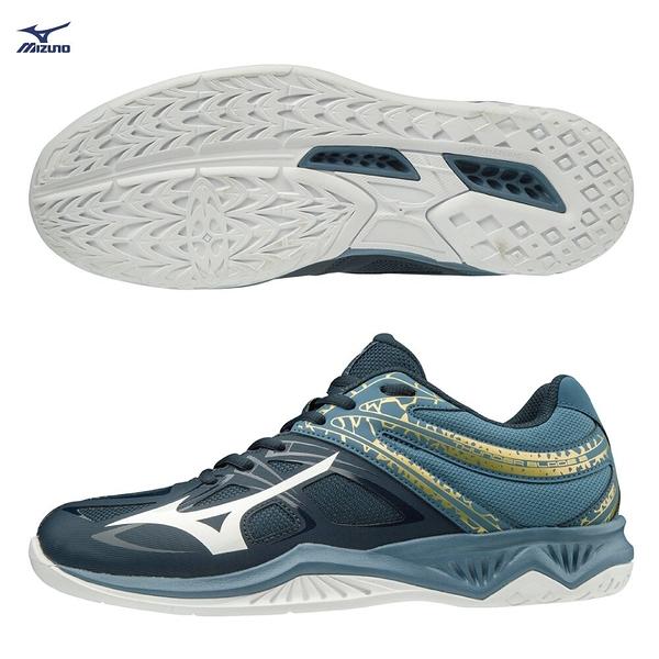 MIZUNO THUNDER BLADE 2 男鞋 排球 手球 楦頭2.5E 基本款 耐磨 輕量 藏青【運動世界】V1GA197098