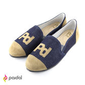 Paidal-PD貼字樂福鞋-黑