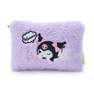 【震撼精品百貨】酷洛米_Kuromi~Sanrio 酷洛米扁平化妝包-紫絨毛#00839