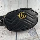 BRAND楓月 GUCCI  古馳476434 黑色 MARMONT 腰包 經典金色gg  logo  側背包 胸包