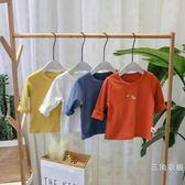 寶寶t恤女0-1-3歲夏季裝2019新款潮兒童男休閒上衣嬰兒長袖小童秋裝