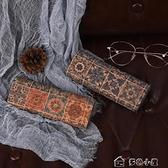 眼鏡盒眼鏡盒少女復古文藝便攜防壓個性創意男生收納盒民族風眼睛盒 快速出貨