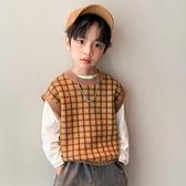 兒童毛衣馬甲男童針織馬夾春秋新款韓版外穿寶寶坎肩背心 樂淘淘