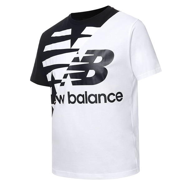 New Balance Athletics Splice 男裝 短袖 休閒 撞色 拼接 棉質 黑 白【運動世界】MT11513BM