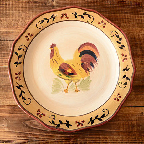 手繪陶瓷|11寸平盤|