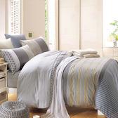 床包組/防蹣抗菌-雙人精梳棉兩用被床包組/奧德莉灰/美國棉授權品牌[鴻宇]台灣製-1989