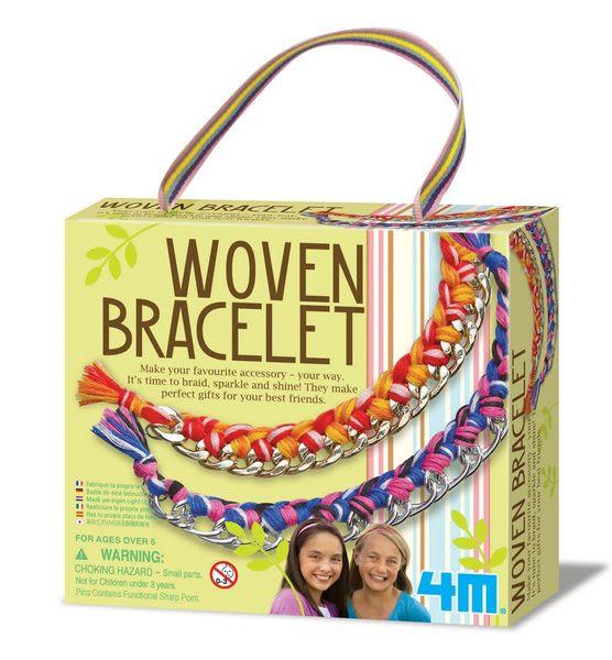 《4M美勞創作》Woven Bracelet 好朋友藝術編織手環  ╭★ JOYBUS玩具百貨