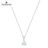 施華洛世奇 Solitaire 白金色典雅璀璨單鑽項鏈