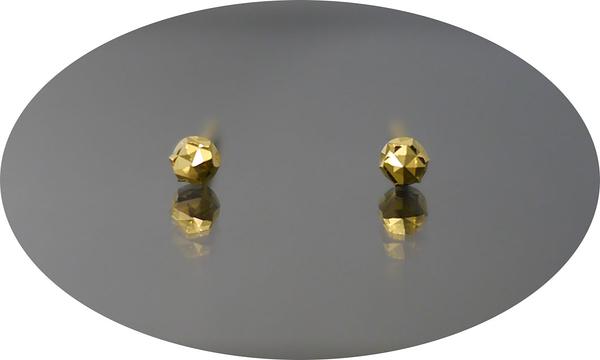 gold 黃金 耳環 金飾 保證卡 重量0.19錢 [ ge 004 ]