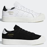 Adidas Everyn 女鞋 休閒 餅乾鞋 金標 厚底 麂皮 黑 / 皮革 白【運動世界】 B28090 / CQ2042