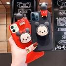 卡通支架三星S21 Ultra手機殼 可愛米奇SamSung S21手機套 三星S21保護殼 立體米妮Galaxy S21+保護套