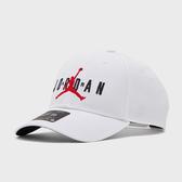 NIKE JORDAN 白色 刺繡 可調 老帽 男女 (布魯克林) CK1248-100