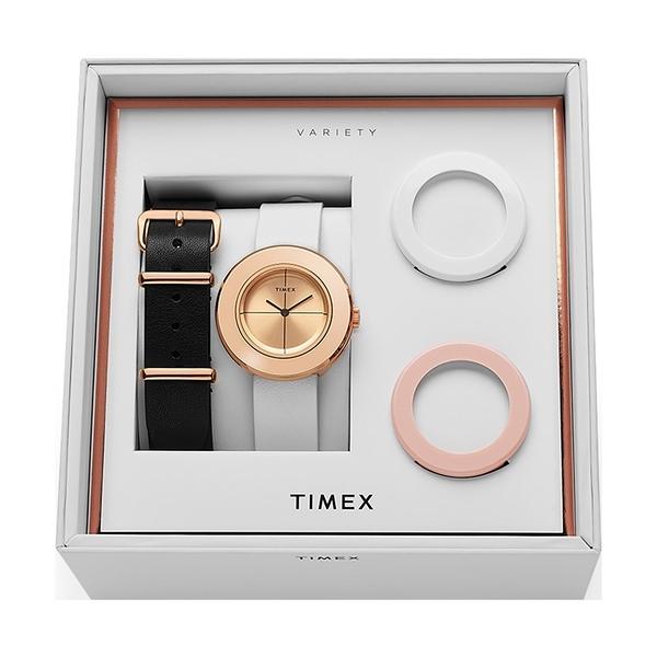 【TIMEX】天美時 復刻系列 限量手錶禮盒組  (玫瑰金/粉/白TXTWG020200)