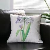 時尚美式鄉村 花鳥棉麻沙發抱枕 辦公室靠墊套 BLW011
