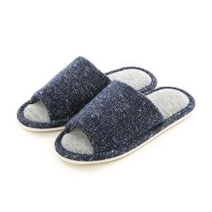 HOLA 舒適毛線保暖拖鞋 藍L
